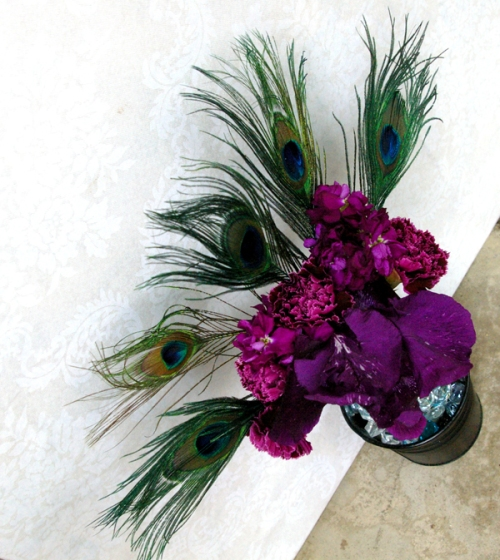Diy Feather Bouquets Weddings: Bouquets