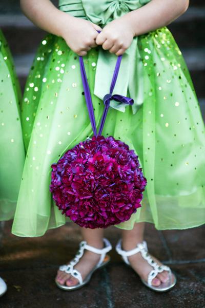 Wedding Flower Girl on Flower Girl Pomander Ball Purple Utah Wedding Flowers Studio Stems
