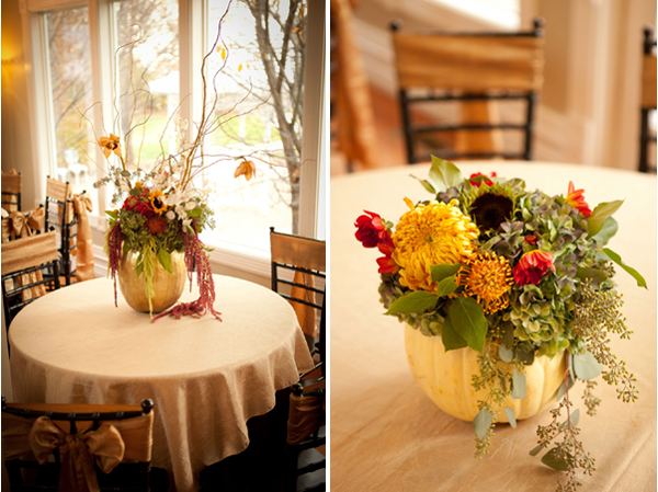 fall pumpkin wedding centerpieces